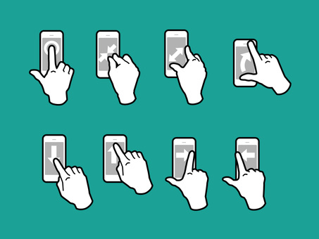 Hand, finger, gesture to operate smartphone 01