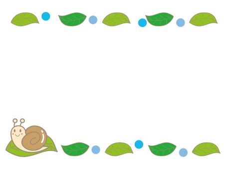 Snail and leaf frame B