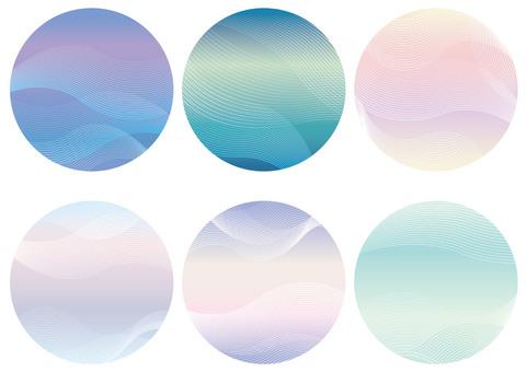 Wave pattern circular background set