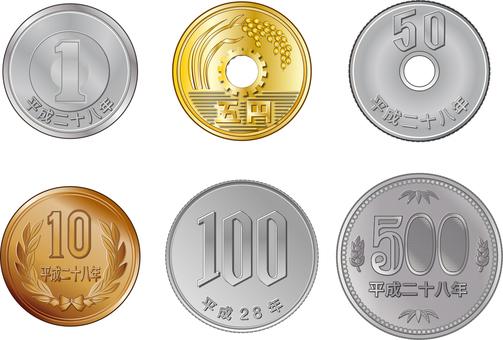 Coin in Heisei 28