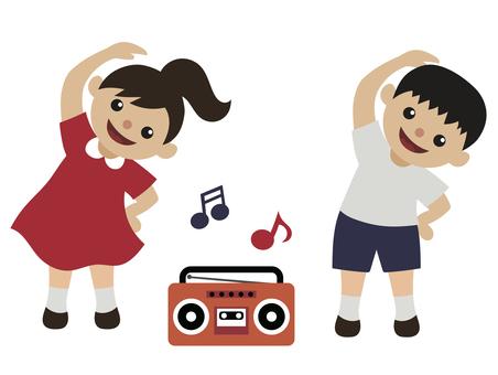 Summer vacation-radio exercises