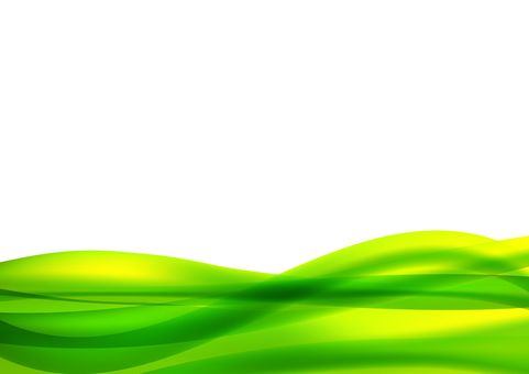 Green wave wave background material