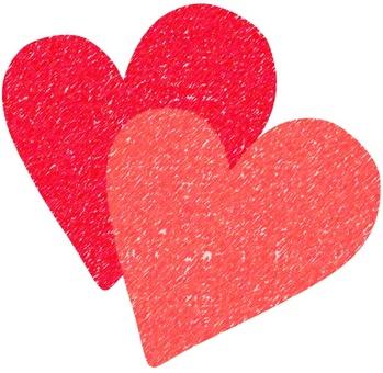 Illustration of 2 hearts