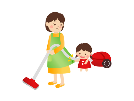 Cleaning with parent and child