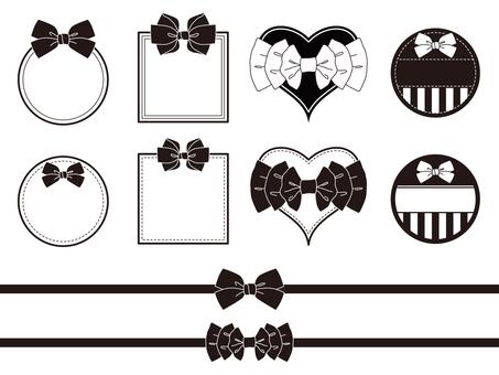 Various ribbons (monochrome)