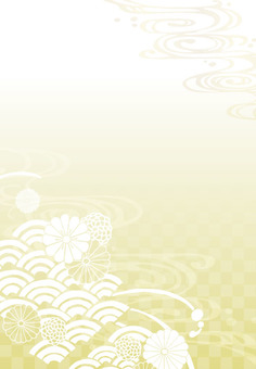 배경 (세로 1 · 금 무늬)