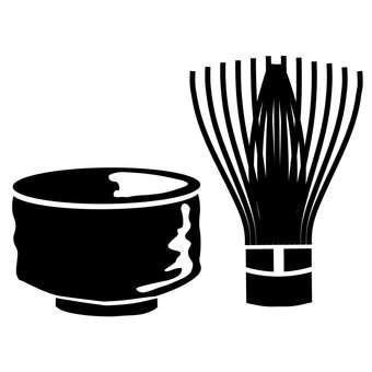 Tea ceremony silhouette