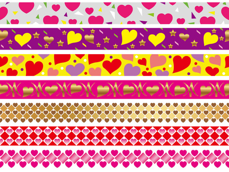 Valentine's day border various 4