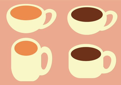 A set of tea and coffee