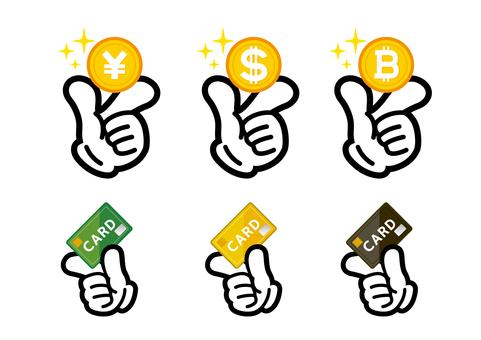 Extraordinary hand sign · Money and card summary