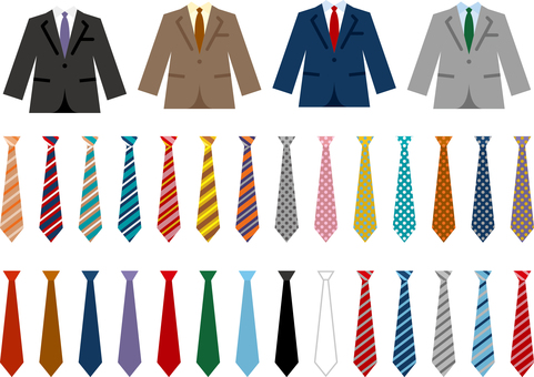 Suit tie icon set