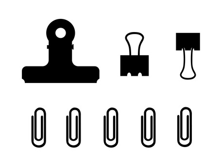 Various clip silhouettes