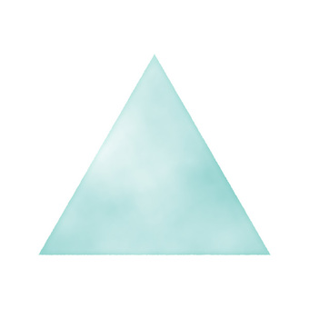 Hand drawn watercolor style triangle Blue / light blue / blue