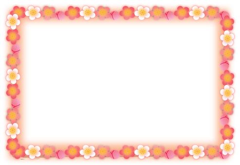 梅花框架橙色