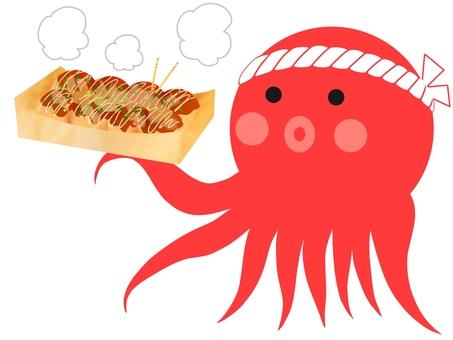 Takoyaki and octopus