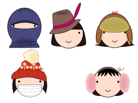Girls winter hat fashion