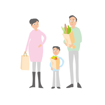 Family parent and child maternity shopping 1