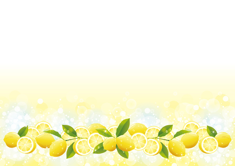 Background of drops and lemon from below