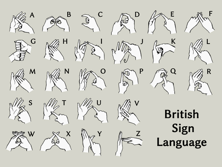 British sign language set