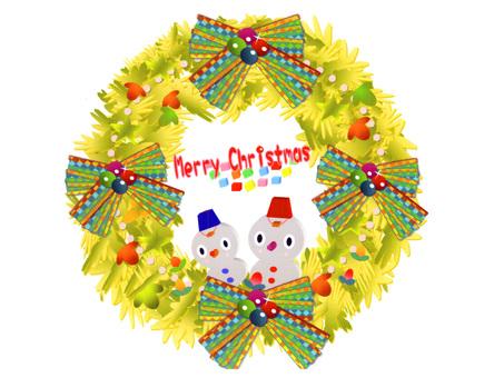 "Christmas lease ""Snowman circle"""
