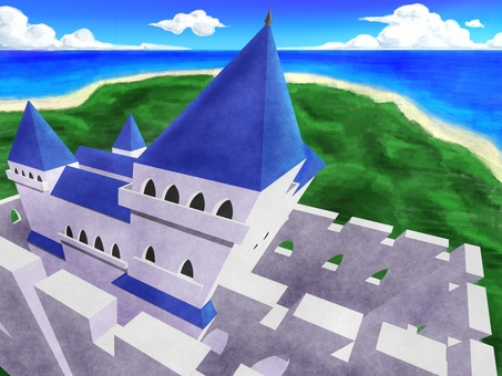 Background material _ Western style castle