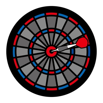 Dart board (red and blue)