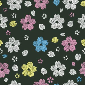 벚꽃 패턴 1 칠판 바람