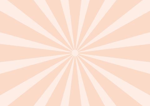 Pastel radiation orange