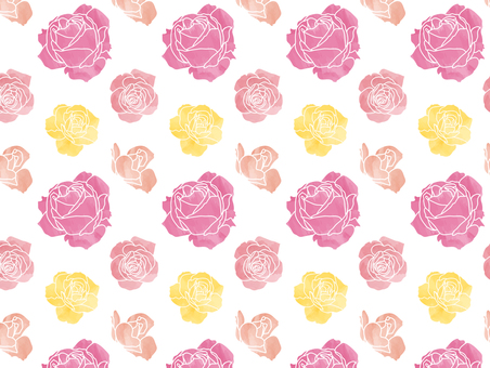 Watercolor style rose pattern