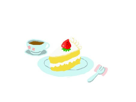 Tea time strawberry cake