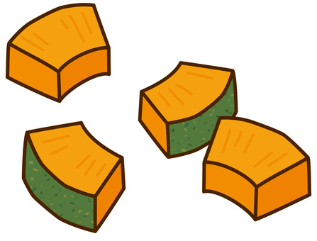 Large cut pumpkin