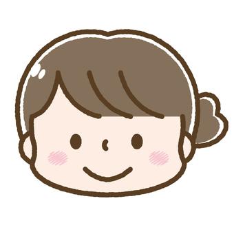 Cute woman face / girl