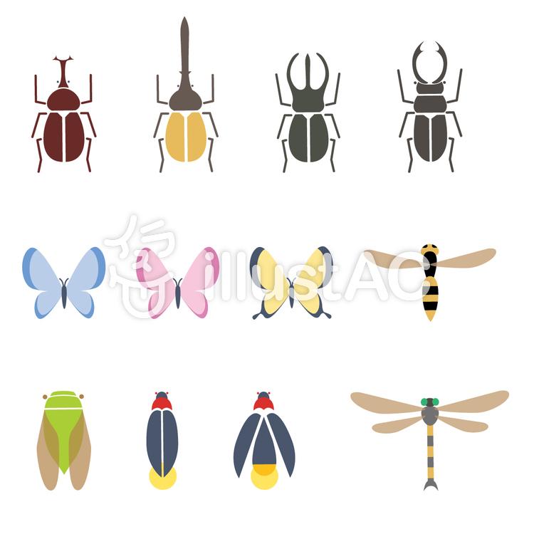 夏の昆虫イラスト No 480528無料イラストならイラストac