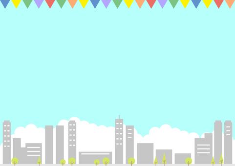 ビル 街並み ガーランド