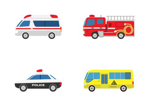 Police car ambulance