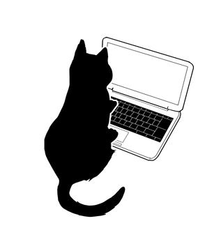 Cat - Silhouette - Personal computer