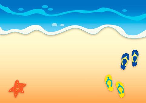 【夏】ビーチ 海 砂浜 背景