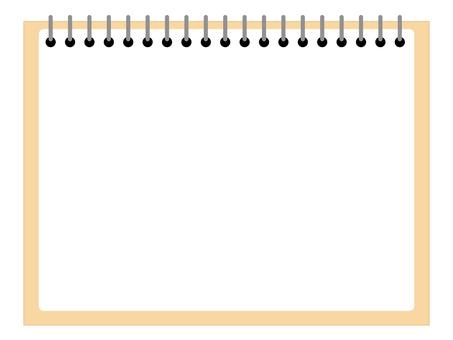 Notebook notepad beige line beige