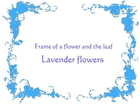 Flower frame lavender monotone