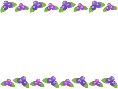 A frame full of blueberries