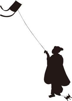 Ukiyo-e character silhouette part 151