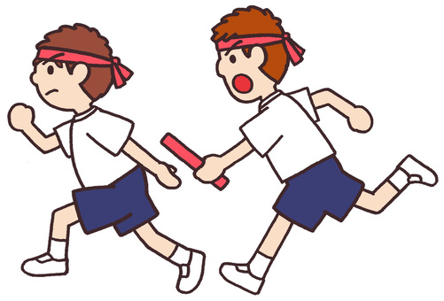 Sports festival baton relay