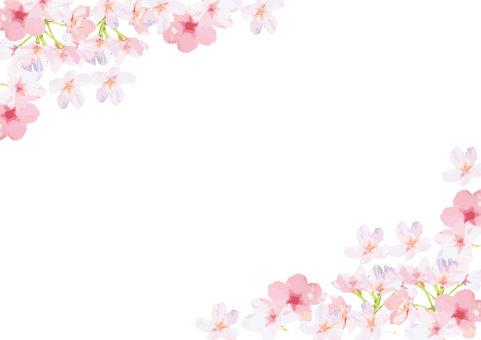 벚꽃 프레임 배경
