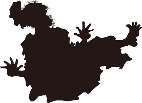 Ukiyo-e silhouette 351