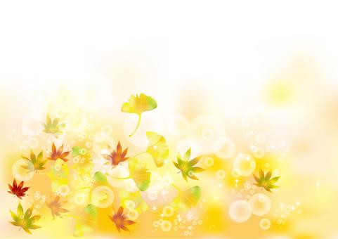 Autumn leaves & gingko 2