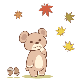 곰과 단풍