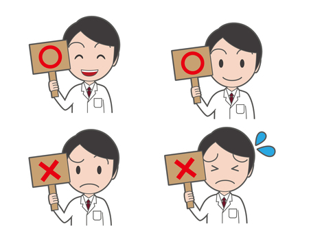 Young doctors with placards Summary