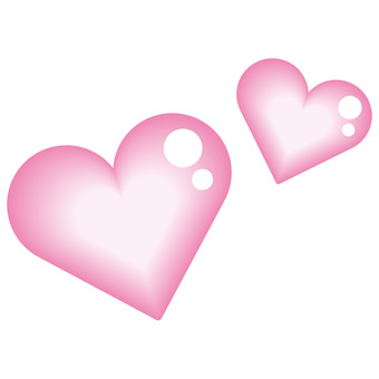 Heart double pink