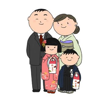 Shichigosan of the family