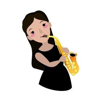 알토 색소폰 연주자, 여성